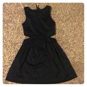 labworks small black cutout dress